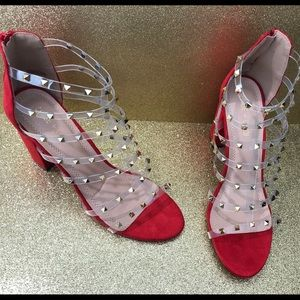 New with box Red and Gold heels